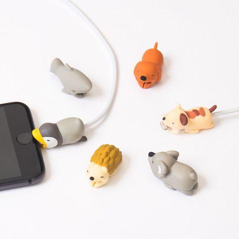 Protectores de cables USB con forma de animales