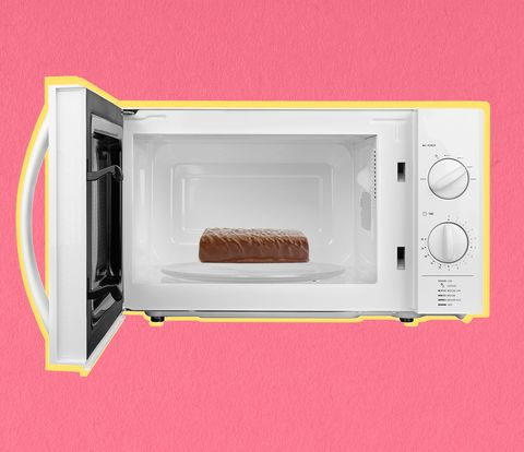 protein bar in microwave