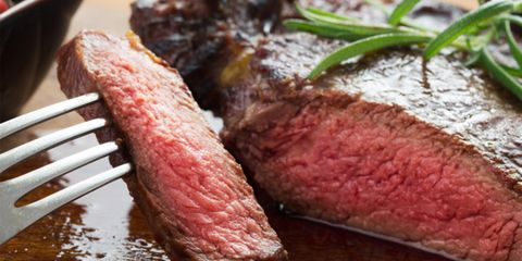 Dish, Food, Flat iron steak, Cuisine, Red meat, Roast beef, Kobe beef, Beef, Beef tenderloin, Ingredient,