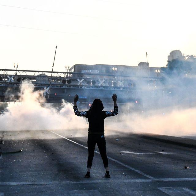 minneapolis protester tear gas