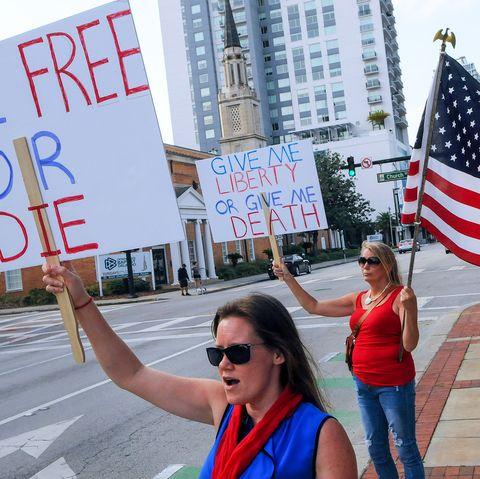 protesters demonstrate outside Orange County
