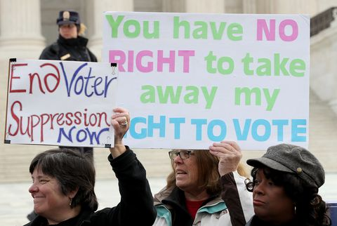 Activists And Ohio Lawmakers Rally Outside Supreme Court As Case Heard On Ohio's Voter Roll Purges