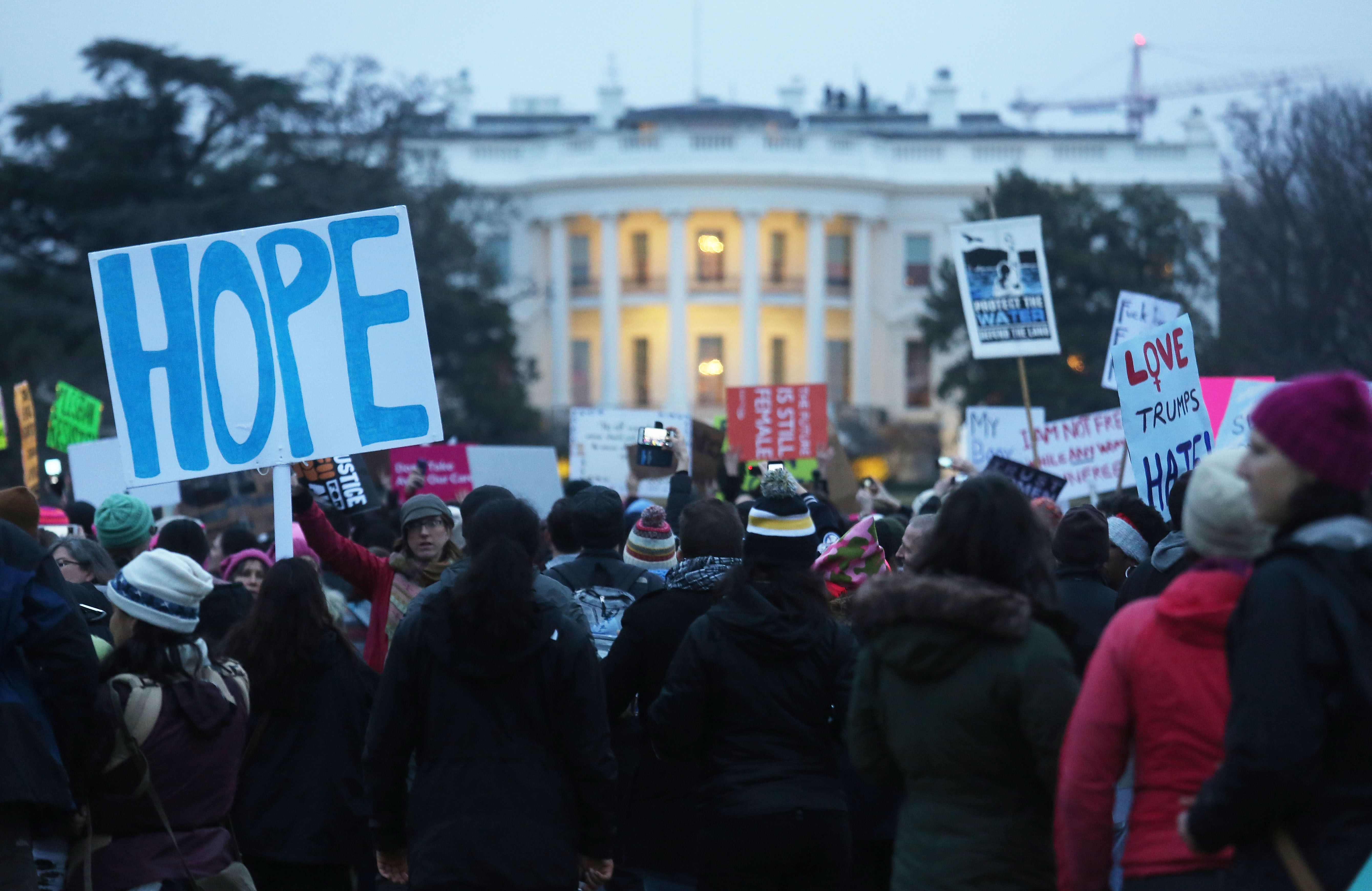 The National Archives Removed Anti-Trump Messages From a Photo of the Women's March