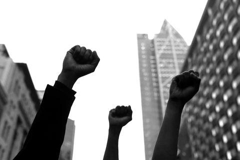 Оклендский митинг черных жизней, проведенный в знак солидарности с маршем
