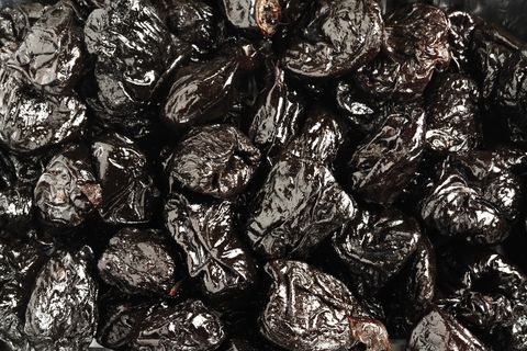 Prunes, close-up