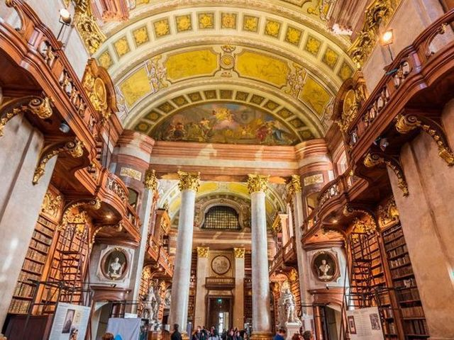 prunksaal library, austrian national library, vienna, austria