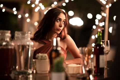 palm springs    when carefree nyles andy samberg and reluctant maid of honor sarah cristin milioti have a chance encounter at a palm springs wedding, things get complicated when they find themselves unable to escape the venue, themselves, or each other sarah cristin milioti, shown photo by christopher willardhulu