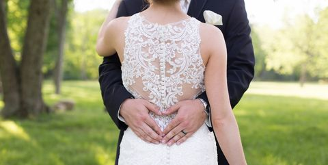 Photograph, White, Dress, Clothing, Wedding dress, Bride, Lace, Beauty, Bridal clothing, Gown,