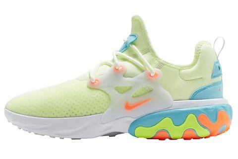 Footwear, Shoe, White, Product, Green, Aqua, Outdoor shoe, Yellow, Orange, Walking shoe,