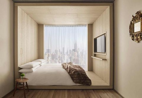 Bedroom, Room, Furniture, Interior design, Bed, Wall, Property, Curtain, Floor, Ceiling,