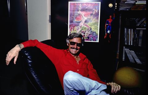 Publisher Stan Lee Posing For A Portrait