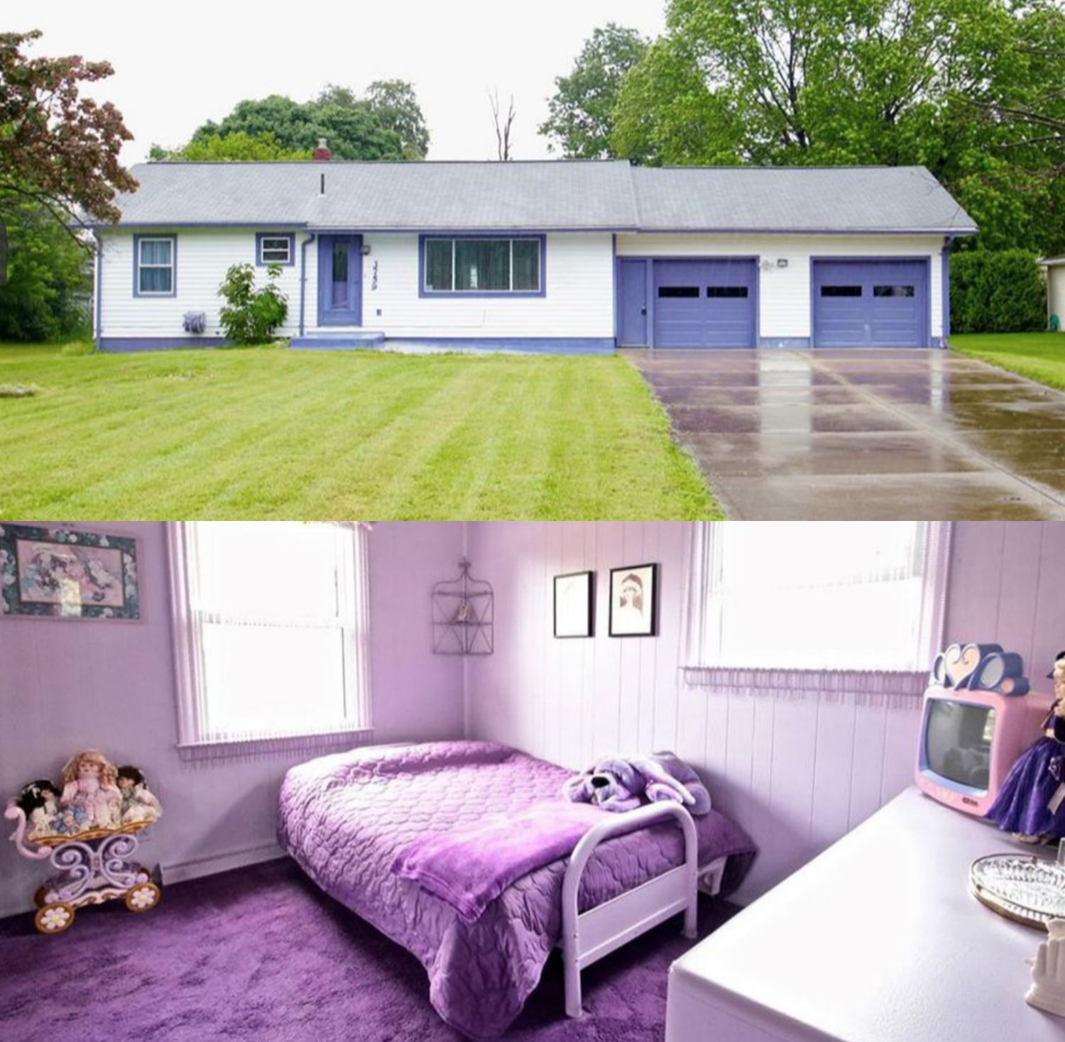 Every Inch of This Home Was Decorated in Shades of Purple