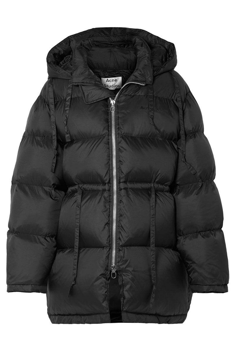 Black Acne Studios puffer jacket - long black puffer jacket