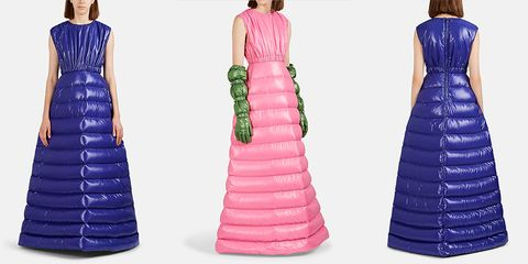 Clothing, Dress, Gown, Pink, Purple, Formal wear, Fashion, Shoulder, A-line, Day dress,