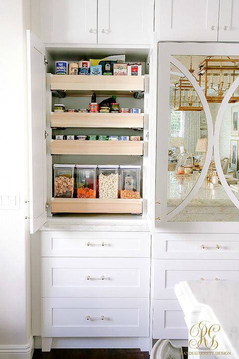 pull out shelves pantry organization