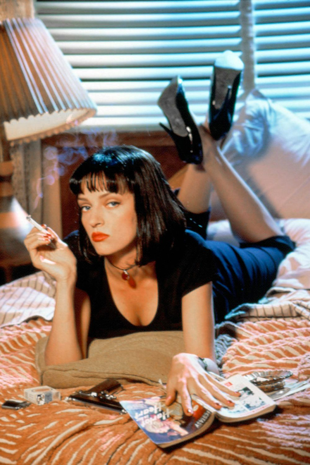 Pulp Fiction (1994) This black comedy made up of several interwoven stories of characters involved in a world of crime and violence cemented Quentin Tarantino's popularity. Pulp Fiction is self-referential, out of chronological order, and entirely iconic.