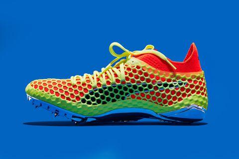 Footwear, Outdoor shoe, Shoe, Running shoe, Orange, Athletic shoe, Aqua, Walking shoe, Sneakers, Electric blue,
