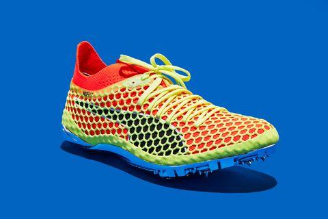 Shoe, Footwear, Outdoor shoe, Running shoe, Blue, Orange, Walking shoe, Athletic shoe, Sneakers, Electric blue,