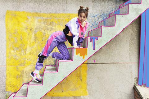 蔡依林穿上PUMA 全新厚底運動鞋打籃球!復古繽紛超可愛 還能一秒增高女孩必收啊~