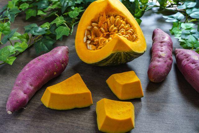 pumpkin and sweet potato