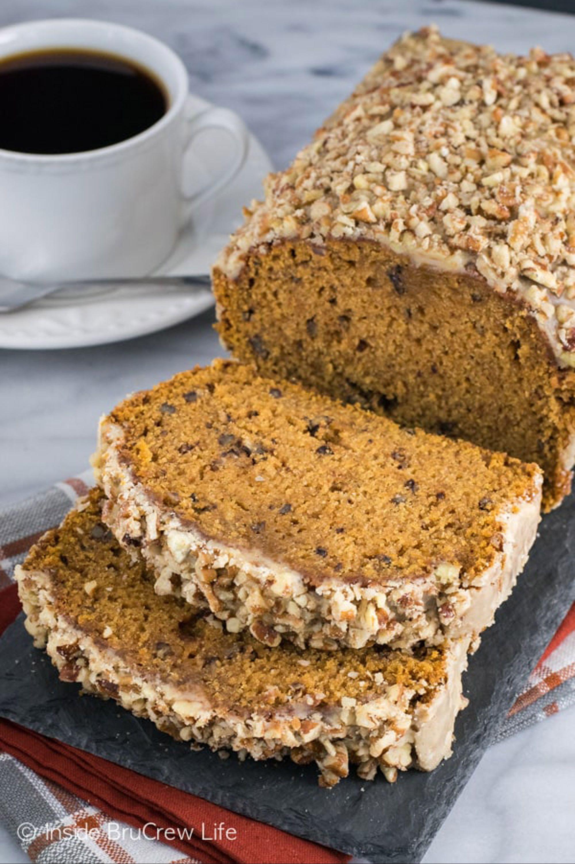 pumpkin bread pecan