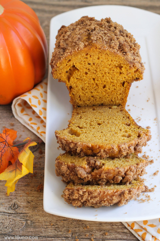 pumpkin bread streusel