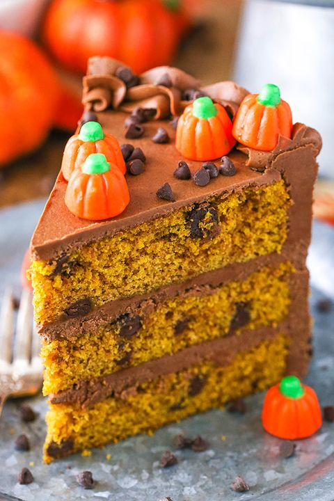 pumpkin cakes chocolate chip