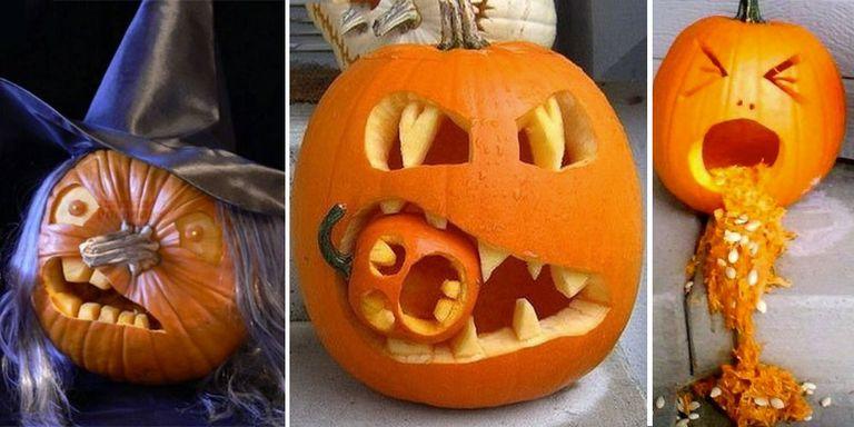 24 pumpkin ideas - Halloween pumpkin carving ideas