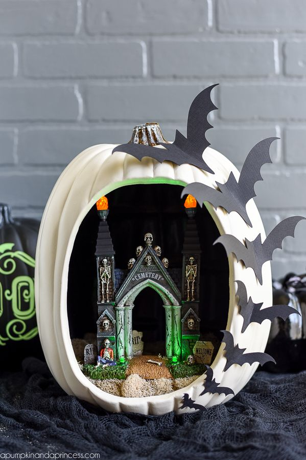 pumpkin carving ideas diorama