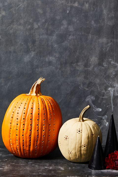 pumpkin carving ideas drilled pumpkin