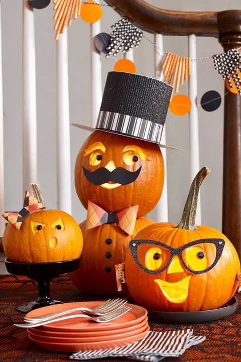 pumpkin carving ideas - family