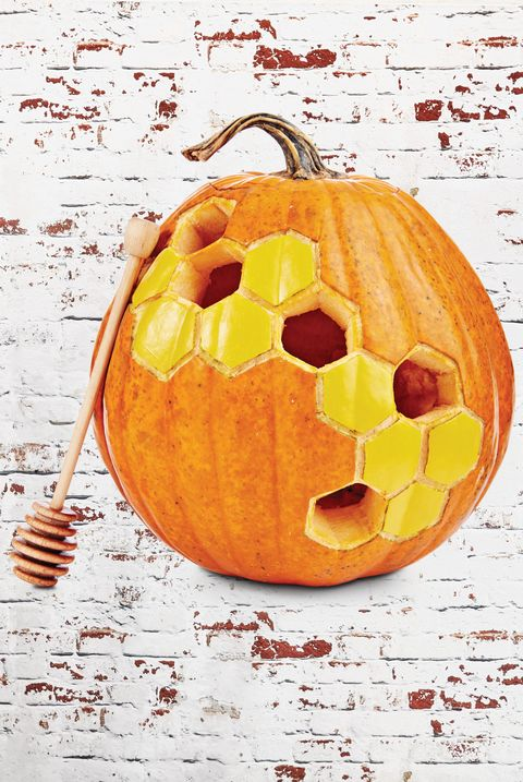 pumpkin carving ideas honeycomb