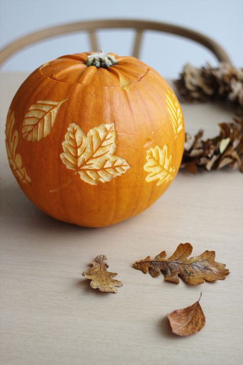 pumpkin carving ideas leaves