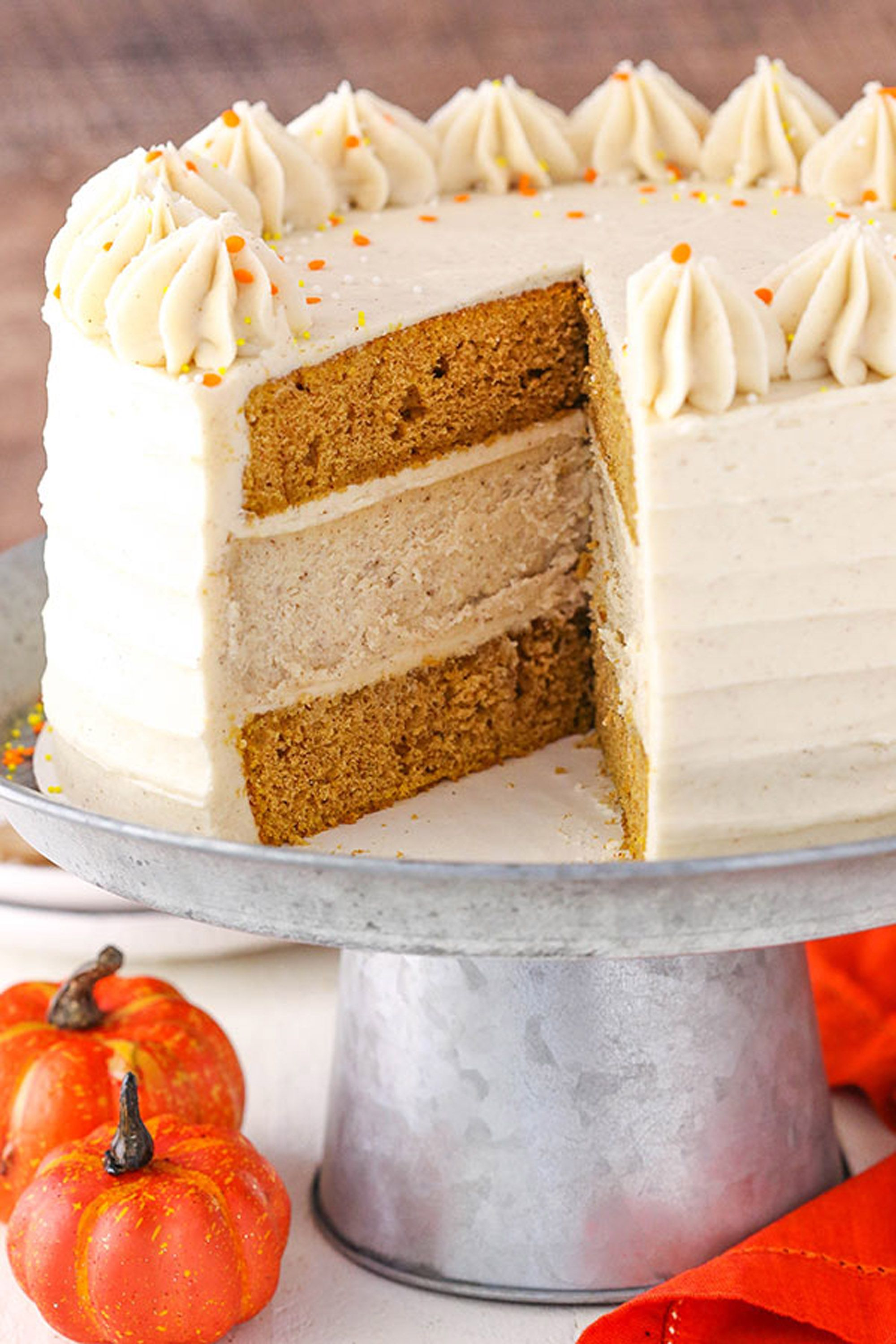 pumpkin cheesecake cake