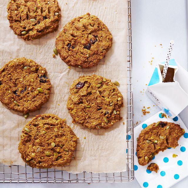 pumpkin cherry breakfast cookies