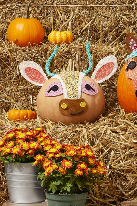 fall diy craft decorations pumpkins decorated like ranch animals