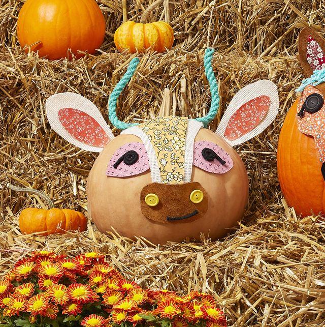 cow pumpkin craft