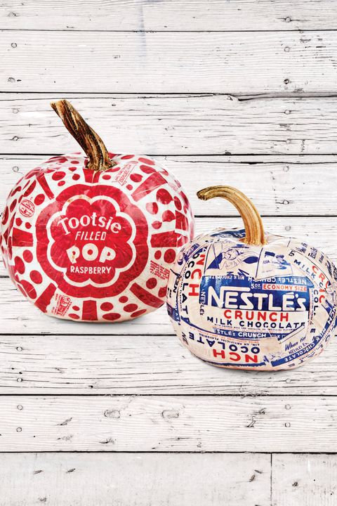 candy painted pumpkins