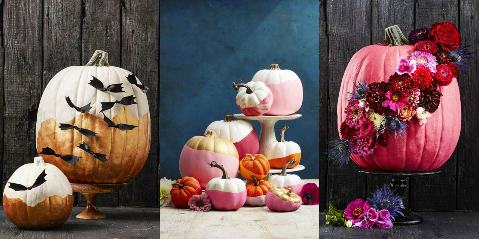 Creative no carve pumpkin decorating ideas for halloween