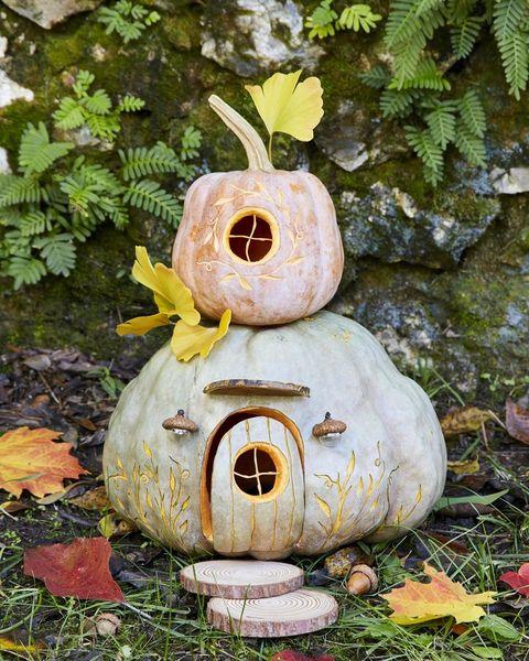 pumpkin gnome house