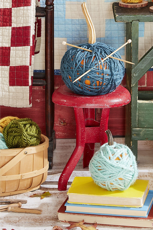 pumpkin decorating yarn