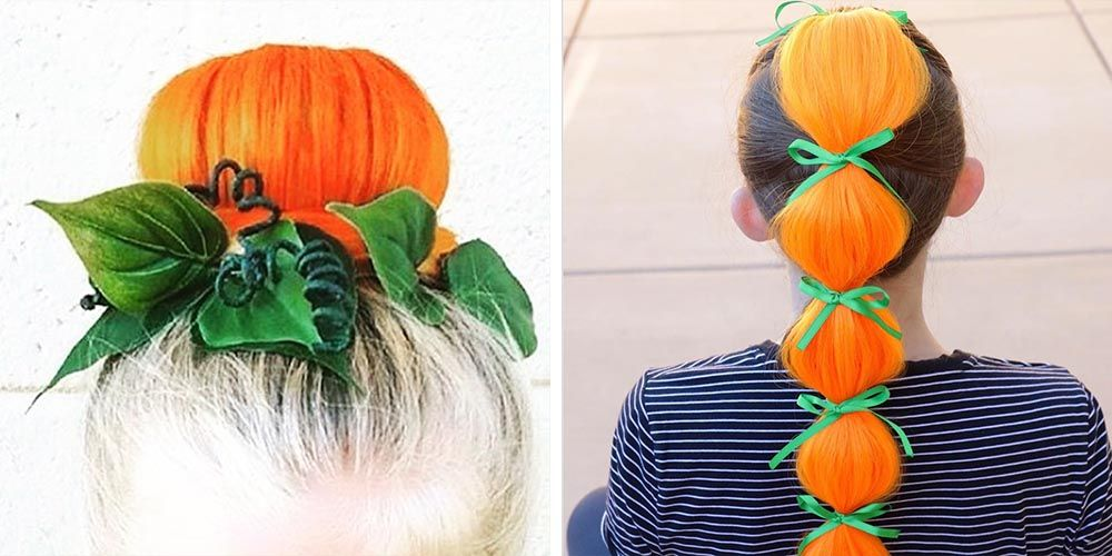 People Are Turning Their Hair Into Pumpkins Because It S
