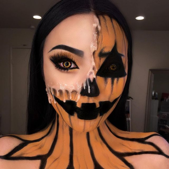 Creepy But Cute Halloween Costumes.23 Easy Pumpkin Makeup Ideas For Halloween Costumes In 2021
