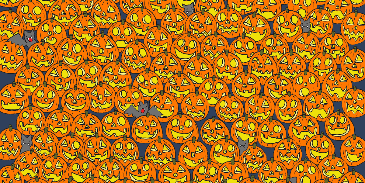 One of These Jack-o'-lanterns Is Missing Its Nose. Can You Tell Which One?