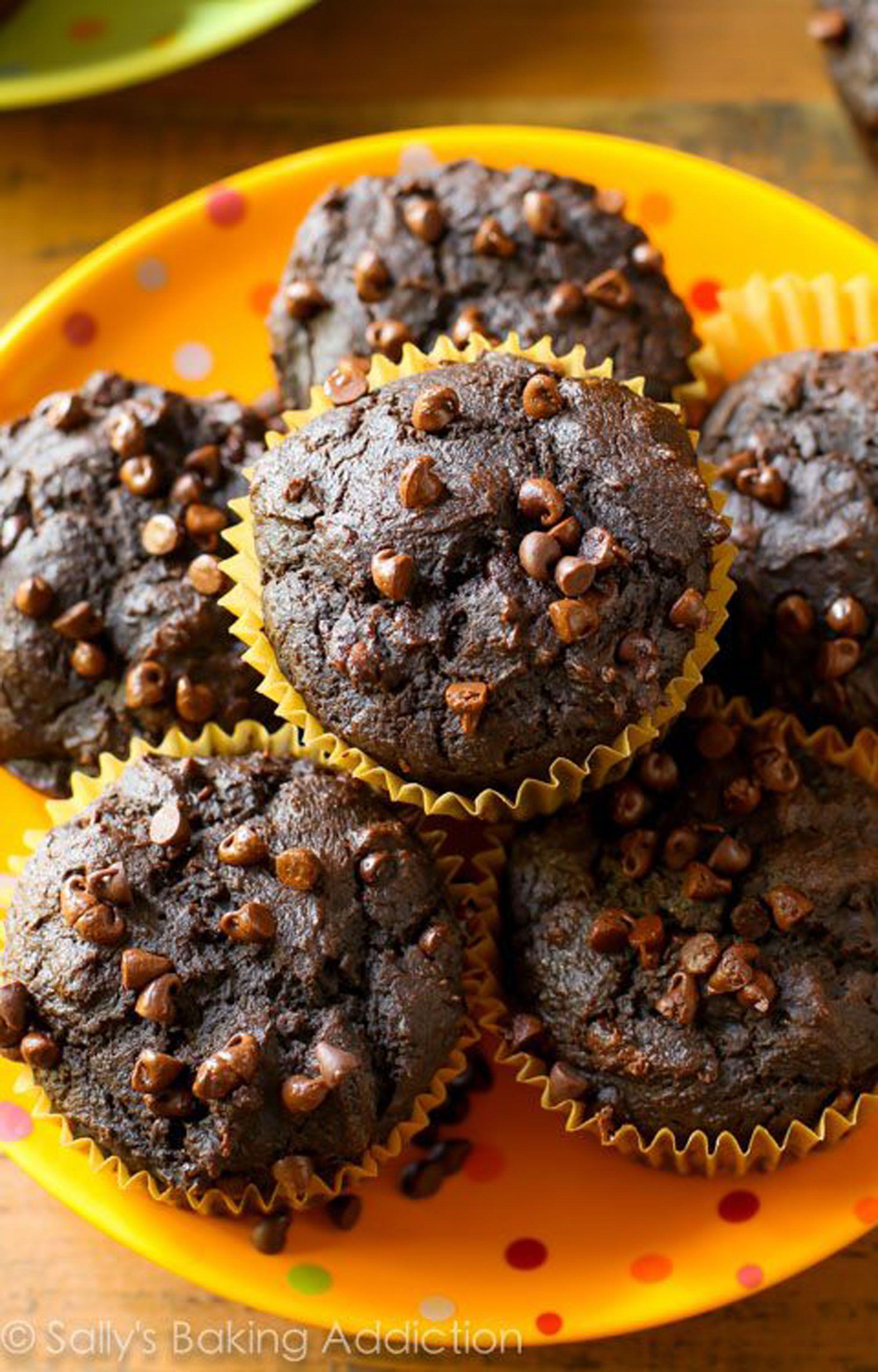 pumpkin muffins chocolate