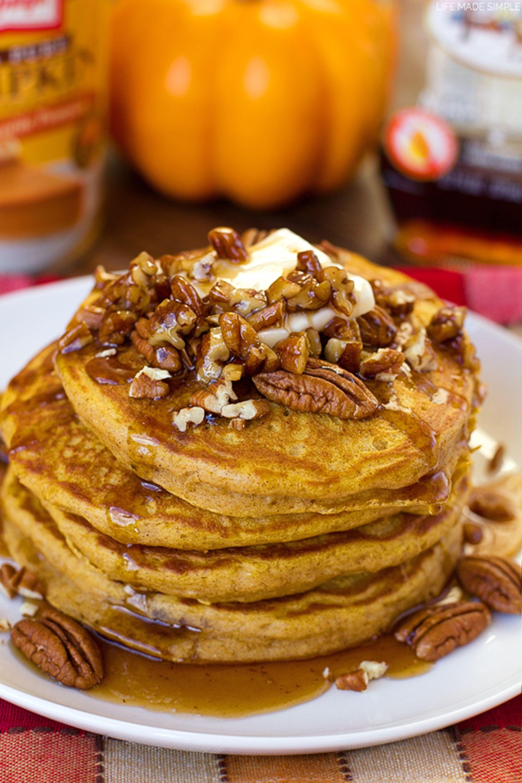 pumpkin pancakes pecan