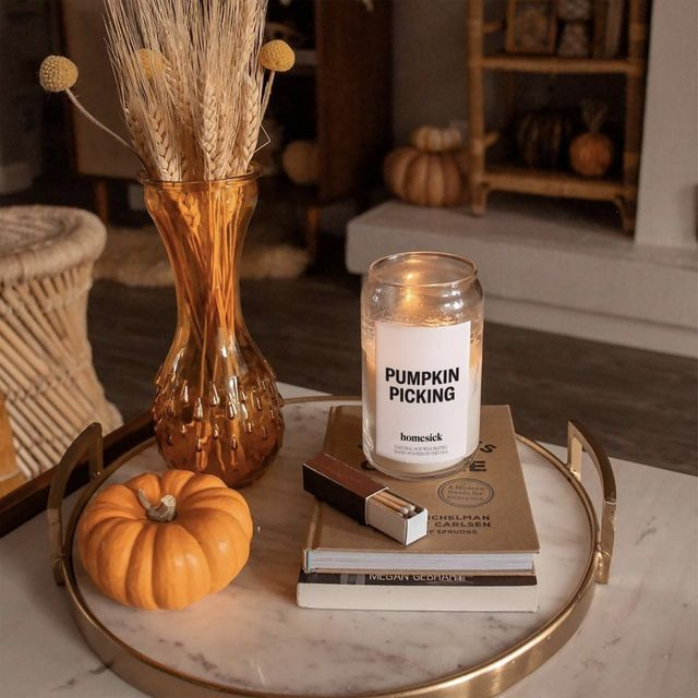 pumpkin picking homesick candle