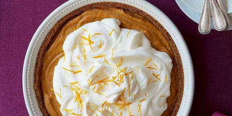 pumpkin chiffon pie wth orange cream