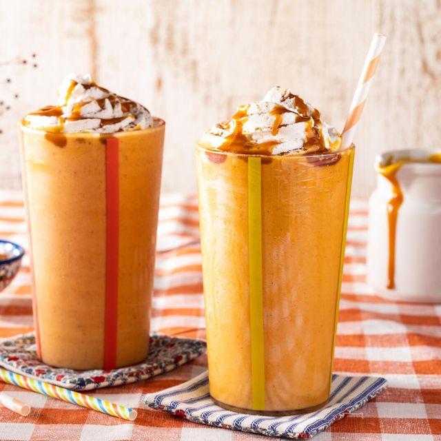 pumpkin milkshake recipe with whipped cream pumpkin pie spice and caramel sauce