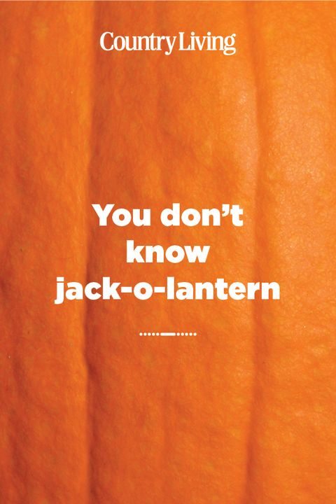 you don't know jack o lantern